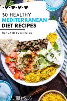 Dash Diet Meal Plan, Diet Meal Plans, Meal Prep, Healthy Recipes On A Budget, Healthy Food, Healthy Eating, Easy Mediterranean Diet Recipes, Mediterranean Food, Meditteranean Recipes