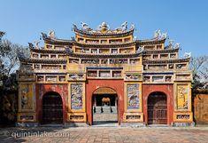 Hien Lam pavilion & the Nine Dynastic Urns, Imperial City, Hue, Vietnam © Quintin Lake