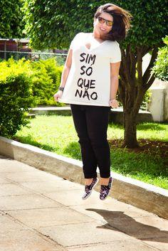 Look Esportivo - Comfy - T-shirt - slip on shoes - Look Esportivo - tênis - Curvy - Plus Size