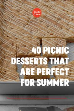 It's officially picnic season! And no summer spread is complete without a sweet treat at the end, so we've rounded up the most portable picnic desserts to pack in your basket. Picnic Desserts, Picnic Recipes, Picnic Foods, Summer Desserts, Summer Recipes, Dessert Recipes, Home Recipes, Cooking Recipes, Potluck Salad