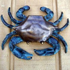 Solid Brass Blue Crab Door Knocker Nautical FL Home/Beach House/Front Door Decor for sale online Home Beach, Beach House Decor, Beach Houses, House Front Door, Front Door Decor, Front Doors, Blue Claw Crab, Porches, Fishing Shack