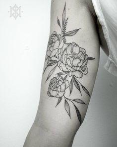 •Peonies Tattoo• by Ynnopya