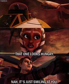 Lol!!!!! Anakin and Ahsoka like normal.