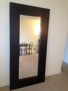 1000 images about apartment on pinterest long black for Long black wall mirror