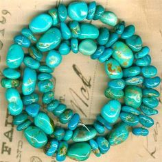 Southwest Kingman Mine Turquoise Beads 2 Sizes Blue Green Natural Genuine Strand | eBay