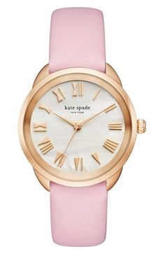 kate spade new york crosstown leather strap watch, 34mm available at #Nordstrom