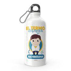 Termo - El termo del mejor bacteriólogo, encuentra este producto en nuestra tienda online y personalízalo con un nombre. Water Bottle, Drinks, Carton Box, Store, Crates, Drinking, Beverages, Water Bottles, Drink