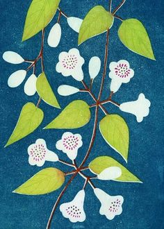 Flowers - block print 2013 - Tamae Mizukami (Japan)