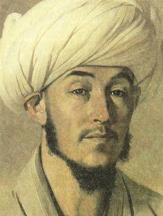 Portrait of a man in a white turban, 1867Vasily Vereshchagin - by style - Realism