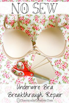 fix a bra in 10 seconds or less - You won't believe how easy and quickly you can repair your underwire bra. Learn How to Repair an Underwire bra in less than 10 Seconds! Sewing Hacks, Sewing Tutorials, Sewing Crafts, Sewing Projects, Sewing Patterns, Diy Projects, Fix Bra, Do It Yourself Fashion, Clothing Hacks