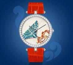 The Van Cleef & Arpels Cerfs-Volants Extraordinary Dials Cyan Watch