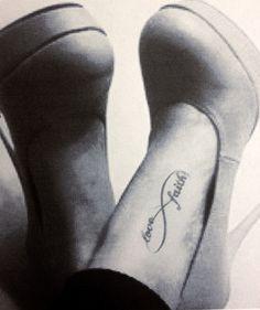 Beautiful Infinity Tattoo On Left Foot