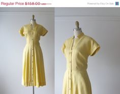 SALE vintage 1940s day dress / 40s dress / Butterfat by Dronning, $118.50