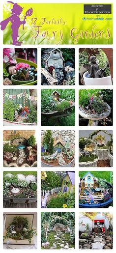 17 Fairy Gardens ~ 'House of Hawthornes' blog. http://www.hometalk.com/b/929162/fairy-gardens. AWESOME ideas and tips!