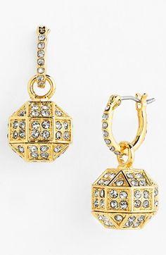 Women's Louise et Cie 'Pave Octagon' Drop Earrings - Gold/ Black Diamond