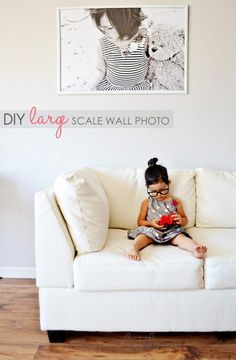 Fantastic Idea .... Made large wall photo for under $20.