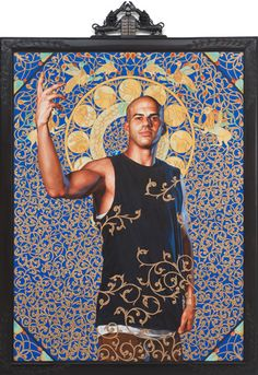 LOVE Kehinde Wiley.  Amazing combination of European portraiture & Islamic decorative art.