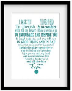 Custom vows print