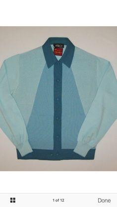 Vintage Hawaiian Shirts, Shirt Template, 60s Mod, Retro Shoes, Knit Shirt, Vintage Italian, Vintage Knitting, Hairspray, Man Style