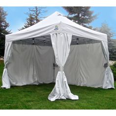 Undercover® 10' x 10' Commercial-Grade Instant Canopy with Polyester CRS™ Curtain-Wall Enclosure