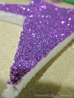 glittered styrofoam