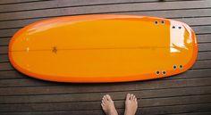 orange surfboard...
