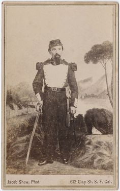 """ca. 1855-95. Joshua Norton was a local, San Francisco eccentric who infamously anointed himself """"Emperor of the United States"""" in 1859. Surprisingly, most embraced his title, which came to include """"Protector of Mexico"""", as well. For twenty-one years his emperor-ship was unchallenged. A currency was even issued in his name, printed and honored at his frequented establishments. He was also an early, outspoken advocate for a bridge to be built across the San Francisco Bay."""