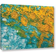 Byron May Summer Breeze Gallery-Wrapped Canvas Wall Art, Size: 36 x 48, Orange