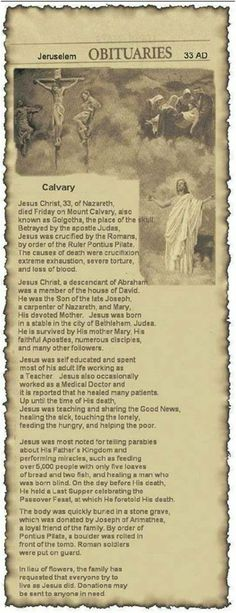 "OBITUARY – ""I have not seen one like this before!"" Pass this on that all will know Jesus.Pass this on that all will know Jesus. Christian Life, Christian Quotes, Inspirational Christian Stories, Bible Scriptures, Bible Quotes, Image Jesus, Religion, Holy Mary, Jesus Pictures"