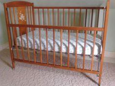 Vintage baby bed / crib circa 1950 - 1960.