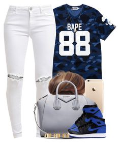 """Bape."" by livelifefreelyy ❤ liked on Polyvore featuring A BATHING APE, FiveUnits, Givenchy, Joolz by Martha Calvo and ASOS"