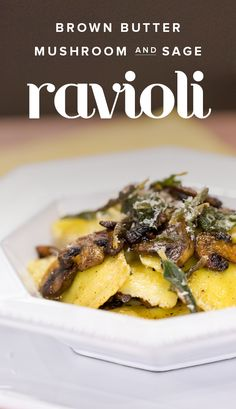 Don't been intimidated by homemade pasta! This easy ravioli recipe has a creamy mushroom filling and delicious sage and brown butter sauce.