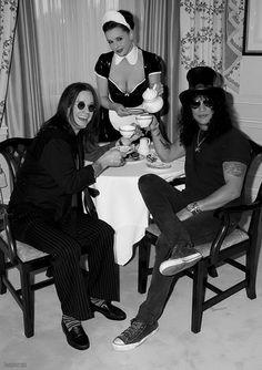 Ozzy and Slash Tea time
