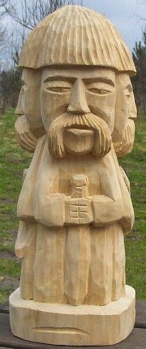 Rzeźba Światowida z drewna lipowego ,rzeźba do ogrodu lub salonu,