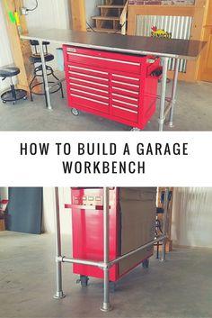 How to Build a Garage Workbench  #KeeKlamp #DIY #pipe #workbench