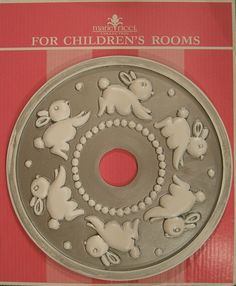 Ceiling Medallions for Kids' rooms by Marie Ricci. www.mariericci.com shown in distressed silver. $145