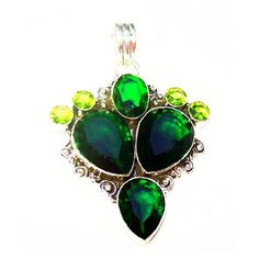 "Tourmaline Peridot Pendant Signed 925 Sterling Silver Tear Drops 2.5""... ($35) ❤ liked on Polyvore featuring jewelry, pendants, sterling silver pendants, sterling silver peridot jewelry, tear drop pendant, sterling silver jewelry and charm pendant"
