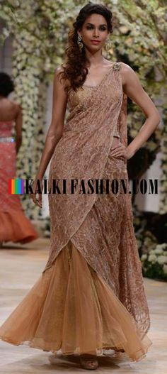 http://www.kalkifashion.com/designers/jyotsna-tiwari.html Urnashi Rautela and other models walk the ramp for Jyotsna Tiwari at Indian Bridal Week NOV 2013 at Mumbai 42