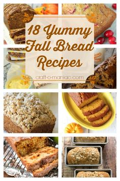 I'm so excited for fall! 18 Yummy Fall Bread Recipes. I can't wait to make all of these!
