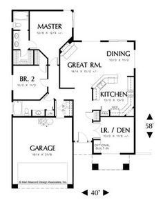 Simple and Versatile Country Plan. Plan 1132 The Russell is a 1420 SqFt Craftsman, Ranch style home plan featuring and Den/Bedroom by Alan Mascord Design Associates. View our entire house plan collection on Houseplans.co.