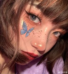 Find images and videos about girl, pretty and aesthetic on We Heart It - the app to get lost in what you love. Edgy Makeup, Eye Makeup Art, Cute Makeup, Pretty Makeup, Makeup Inspo, Makeup Inspiration, Beauty Makeup, Uzzlang Makeup, Peach Makeup