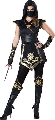 Female Ninja Elite - Adult Costume | (Small)