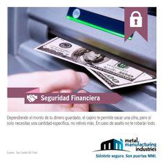 ¡Buen inicio de semana! Por #seguridad retira sólo el dinero necesario del cajero automático.