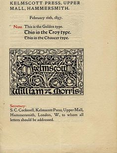 Kelmscott Press - Wikipédia