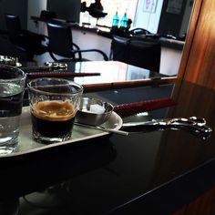 Enjoying an espresso at the barber.  #instagood #instacoffee #espresso #coffee #barber #photo #enjoying #life #capellidasalvo #wiesbaden #kaffee #friseur