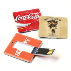 Square Card USB Drive with full-color print from www.BestCustomFlashDrives.com