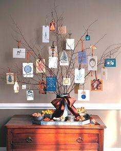 xmas card tree