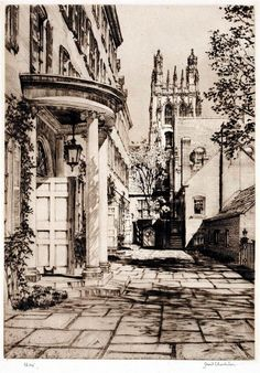 Samuel Chamberlain (1895-1975-American) - Davenport College, Yale - 1933