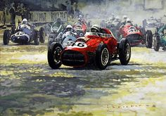 #Ferrari #F1 par Yuriy Shevchuk Article original : http://newsdanciennes.com/2015/07/25/morceaux-darts-du-samedi-yuriy-shevchuk/ #Automotive_Art #Cars #Voitures #Anciennes