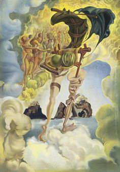 Salvador Dali - Allegory of Sunset Air Salvador Dali Gemälde, Salvador Dali Paintings, Salvador Dali Quotes, Art Visionnaire, Les Religions, Spanish Artists, Art Moderne, Fantastic Art, Surreal Art